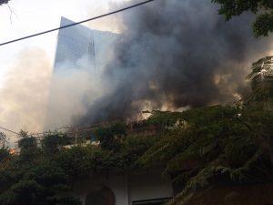Cháy lớn gần tòa nhà Lotte